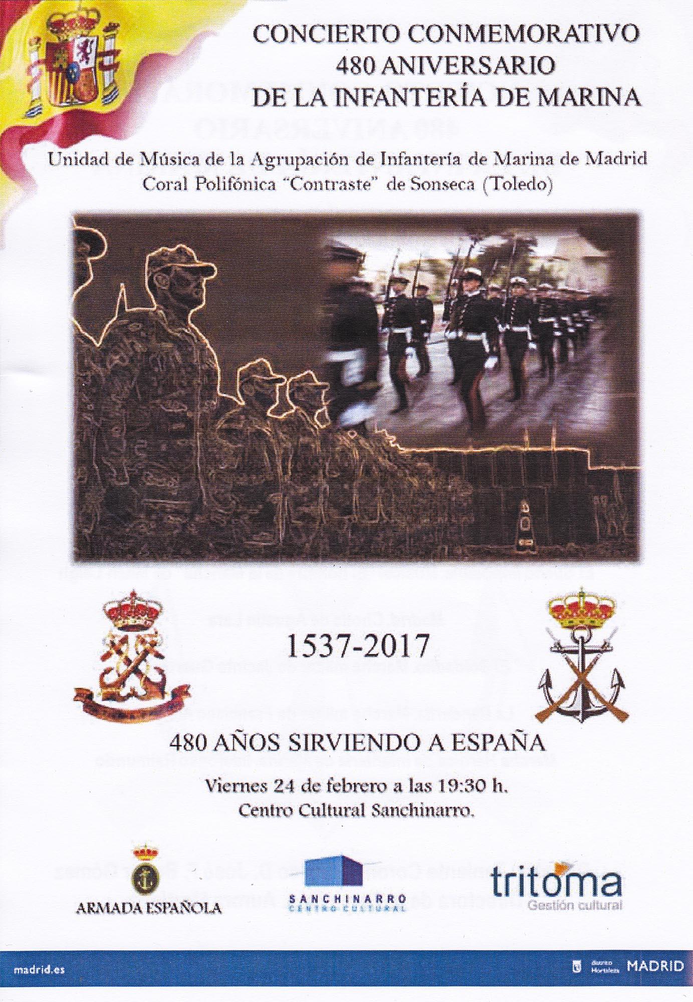 Cartel Concierto 480 Aniversario de la Infatería Marina